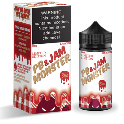International - Jam Monster PB&J Strawberry 3mg 100ml - Limited Edition
