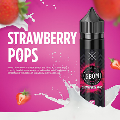 Local - GBOM Strawberry Pops 2mg 120ml