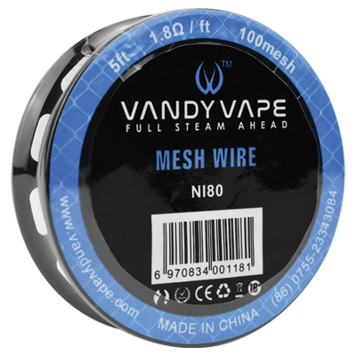 Vandy Vape Ni80 Mesh Wire 100Mesh 5ft